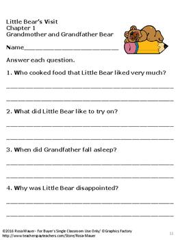 Little Bear's Visit Literacy Unit