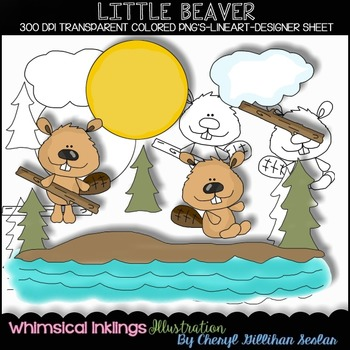 Little Beaver Clipart Collection