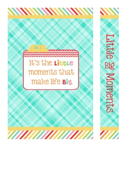 Little Big Moments Cover Printable
