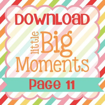 Little Big Moments Page 11 Printable
