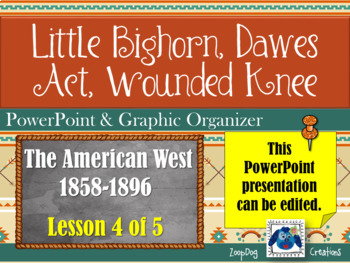 Little Bighorn, Dawes Act & Wounded Knee - PowerPoint & Graphic Organizer