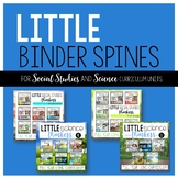 Little Binder Spines {For SCIENCE and SOCIAL STUDIES Curri