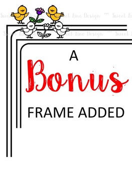 Clipart: Spring -Bird Buddies, Birdhouses & a Frame {Sweet Line Design Clipart}