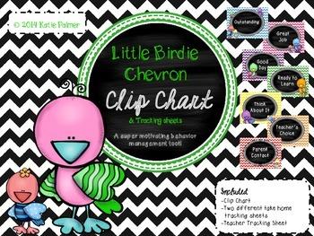 Little Bird Chevron Clip Chart & Tracking Forms