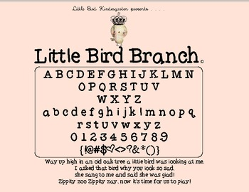 Little Bird Kindergarten • Little Bird Branch Font