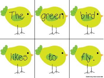 Little Bird Scrambled Sentences