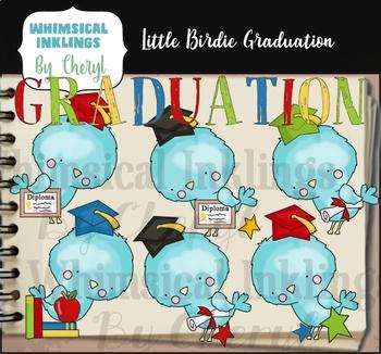Little Birdie Graduation Clipart Collection