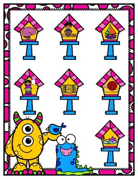 Little Birdies Long Ai/Ay File Folder Game First Second Grade Long Vowels