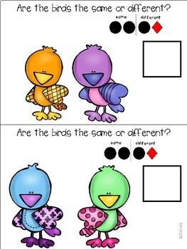 Little Birds Same vs. Different Mini Adapted Book