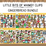 Little Bits of Whimsy Clips: Gingerbread Clip Art Bundle