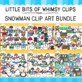 Little Bits of Whimsy Clips: Snowman Clip Art Bundle {Winter Clip Art}