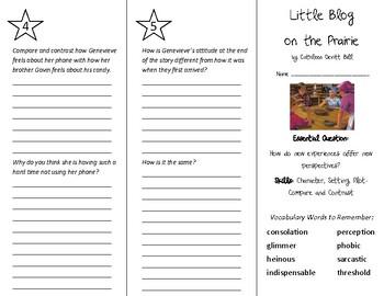 Little Blog on the Prairie Trifold - Wonders 6th Grade Unit 1 Week 1