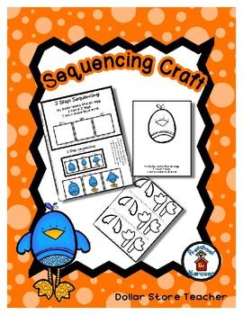Little Blue Bird - Sequencing Reader Mat & Craft Page