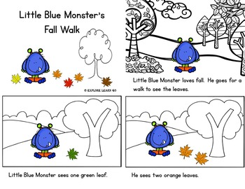 Little Blue Monster's Fall Adventures Interactive Literacy Lessons