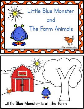 Little Blue Monster's Farm Adventures / Interactive Literacy Lessons