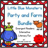 Little Blue Monster's Party and Little Blue Monster's Farm Adventures Bundle