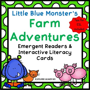 Little Blue Monster's Party and Little Blue Monster's Farm Adventures Bundle
