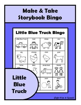 Little Blue Truck BINGO Make & Take, SPEECH THERAPY, Early