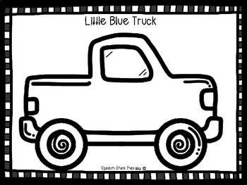 Little Blue Truck Inspired Activity For Speech Therapy
