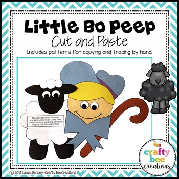Little Bo Beep Cut and Paste
