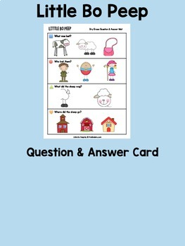 Little Bo Peep Books & Sequencing Cards