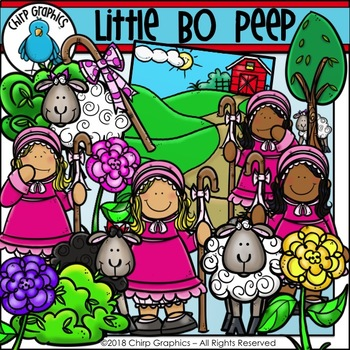 Little Bo Peep Clip Art Set - Chirp Graphics