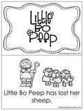 Little Bo Peep Early Emergent Reader. Pre-K and Kindergarten Reading.