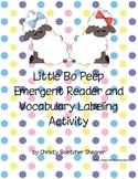 Little Bo Peep Emergent Reader and Vocabulary Activity