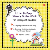 Little Bo Peep Nursery Rhyme Literacy Centers for Emergent Readers