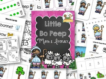 Little Bo Peep Nursery Rhyme Activities