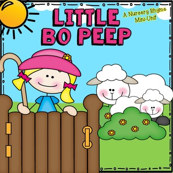 Little Bo Peep Nursery Rhyme Set