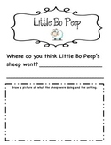 Little Bo Peep Nursery Rhyme - Where do you think the sheep were?