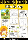Little Bo Peep Nursery Rhyme Worksheets and Activities