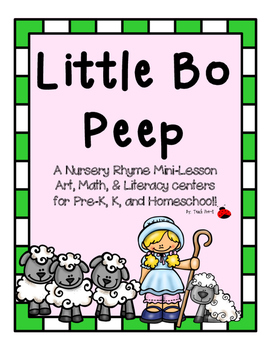 Little Bo Peep Nursery Rhyme mini-lesson for PreK, K, and Homeschool!