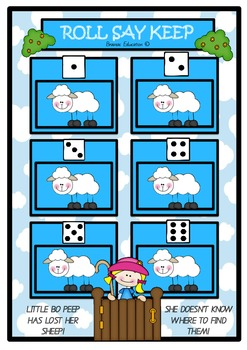 Little Bo Peep Roll Say Keep Number Recognition