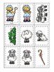 Little Bo Peep themed Memory Matching preschool curriculum