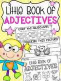 Little Book of Adjectives - Half Page Printable Worksheet Booklet
