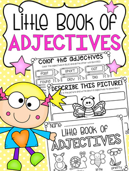 Adjective pictures teaching resources teachers pay teachers little book of adjectives half page printable worksheet booklet fandeluxe Images