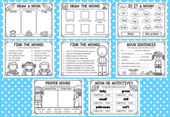 Little Book of Nouns - a5 Printable Worksheet Booklet