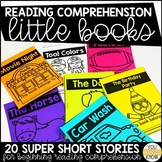 Little Books for Beginning Reading Comprehension; 20 Books Included