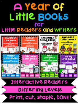 Little Books for Little Readers and Writers - Bundled Set - The Whole Year!