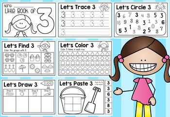 Little Books of Numbers (1-10) - Half Page Booklets Pre-K Kindergarten