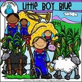 Little Boy Blue Clip Art Set - Chirp Graphics