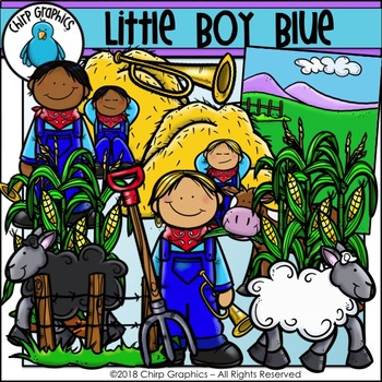 Little Boy Blue Clip Art Set - Chirp Graphics