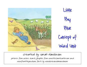 Little Boy Blue Concept of Word Unit