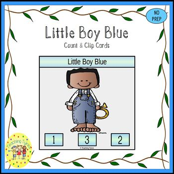 Little Boy Blue Count and Clip Nursery Rhymes Task Cards