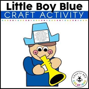 Little Boy Blue Cut and Paste