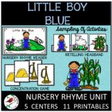 Little Boy Blue Nursery Rhyme Literacy Centers for Emergen