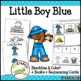 Little Boy Blue Rhyme: Books & Sequencing Cards