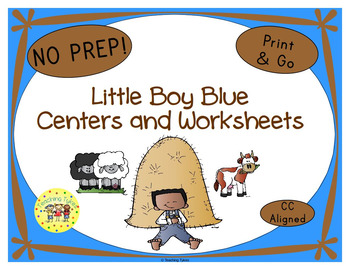 Little Boy Blue Worksheets Activities Games Printables and More